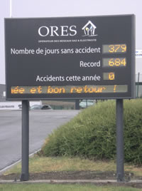 Afficheur LED Securite ORES